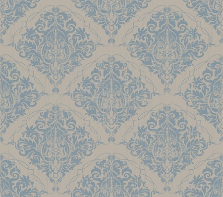 Floral grunge gray and blue old beauty vintage background Vector