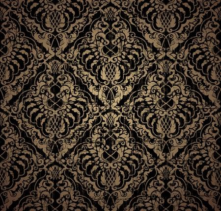 papel tapiz: Patr�n floral de vintage transparente