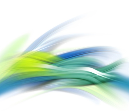 waved: Abstract modern blue, green and white waved background