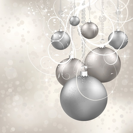 Christmas balls and ornate on a candy backdrop Stock Photo - 10649693