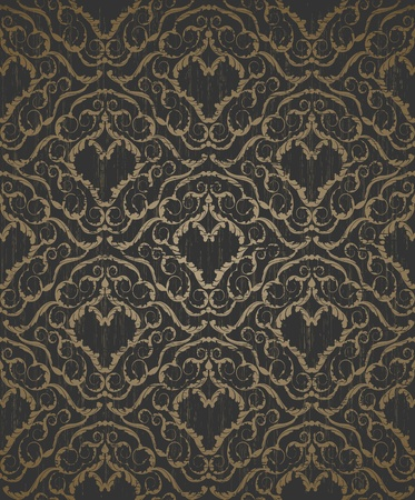 royal background: Decorative seamless floral beauty vintage ornament