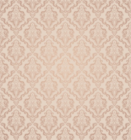wallpaper pattern: Decorative seamless floral beauty vintage ornament