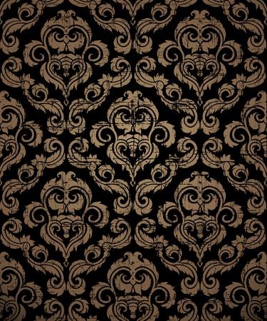 royal black wallpaper: Decorative seamless floral beauty vintage ornament