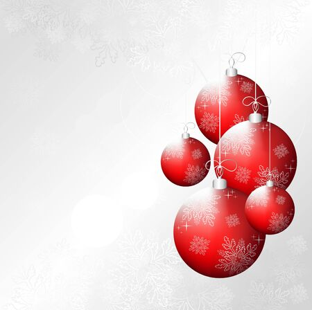 Vector Christmas design background with event balls Stock Vector - 11031860