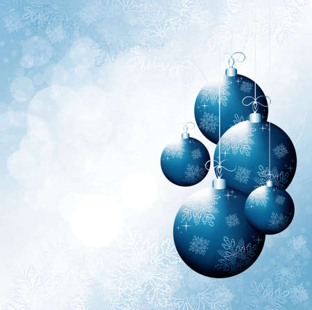 Christmas design background with event balls Stock Photo - 11031854