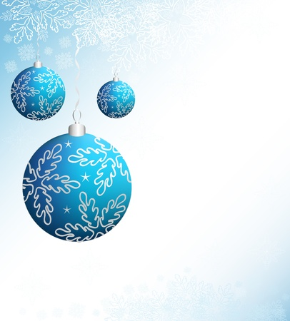Christmas design background with event balls Stock Vector - 11031865