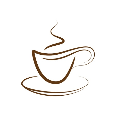 design cup off coffee isolated on a white background