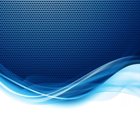 Abstract modern blue and white waved background Foto de archivo