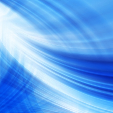 Abstract modern blue and white waved background photo