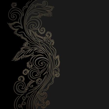 Design black and gold vector ornate background Vector
