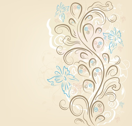 brown swirl: Design vector ornate vintage background Illustration