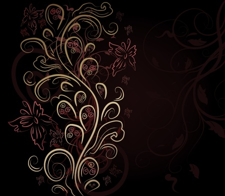 swirly design: Design vector background with floral ornate Illustration