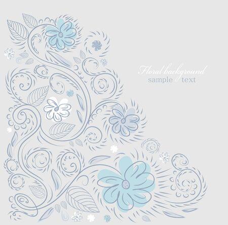 Summer floral design vector background