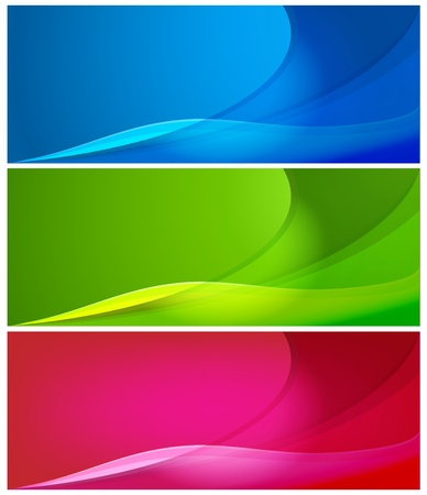 smooth curve design: Set of vector abstract  modern color backgrounds
