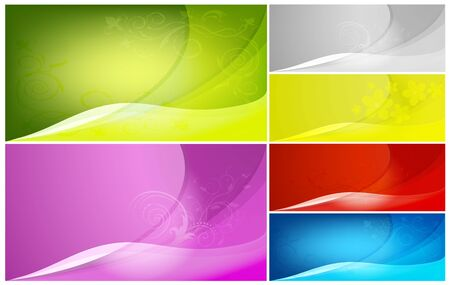 Set of vector abstract color backgrounds Vector