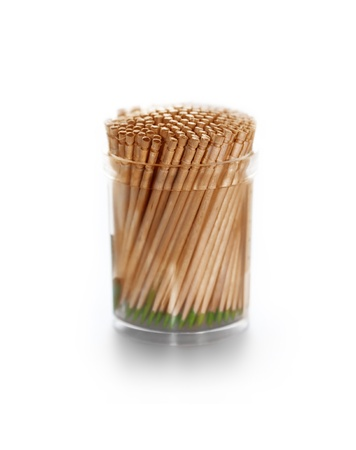 Wooden Toothpicks With Mint Is Isolated On A White Background Stock Photo - 13794138