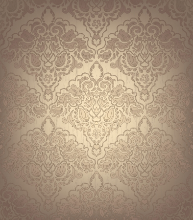 veters: Naadloze Bloemen Ornament Stock Illustratie