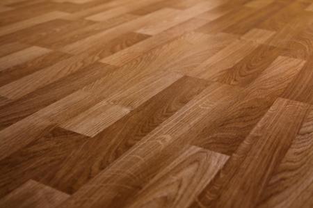 laminate: The floor of the light brown laminate diagonally