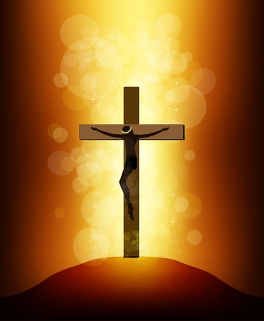 Jesus Christ on a background of the sun Stock Vector - 17680389