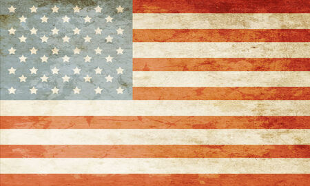 american history: Grunge American flag Stock Photo