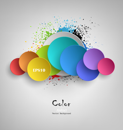 Abstract Background With Colored Blots And Splashes Vector