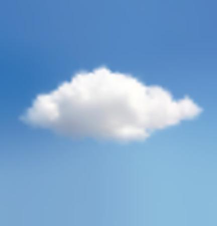 nubes cielo: Nube de Belleza En Un Fondo Azul Cielo Vectores