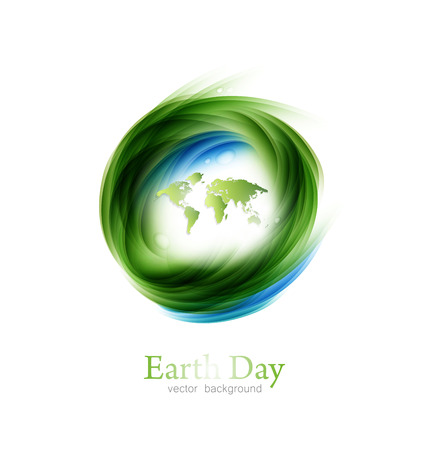 Save The Planet Earth Day  Environment Green World  Map  Background Design Element Vector