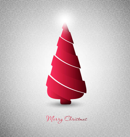 Christmas Design Tree On A Gray Background Vector
