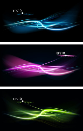 Set Of Abstract Design On A Black Background Vector