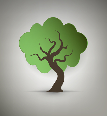 reflection of life: Abstract Design Tree Illustration