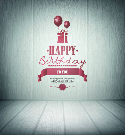 birthday backdrop: Valentines Day Wooden Background With Hearts And Title Inscription