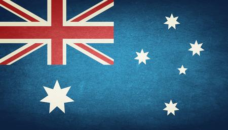 sydney australia: Grunge Flag Of Australia