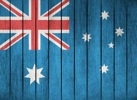 nakładki: Drewniane Grunge Flaga Australii