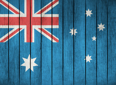overlay: Wooden Grunge Flag Of Australia
