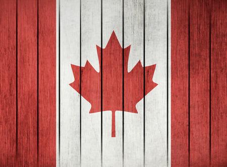 memorial: Wooden Grunge Flag Of Canada Illustration