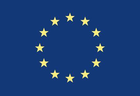 eec: Grunge Flag Of Europe