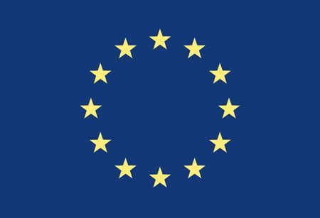 la union hace la fuerza: Indicador de Grunge de Europa Vectores