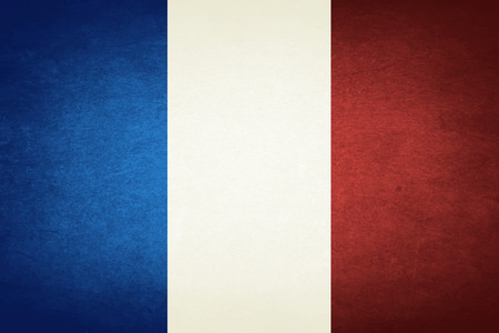 french symbol: Grunge Flag Of France Illustration