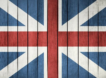 travel icons: Wooden Grunge Flag Of Great Britain