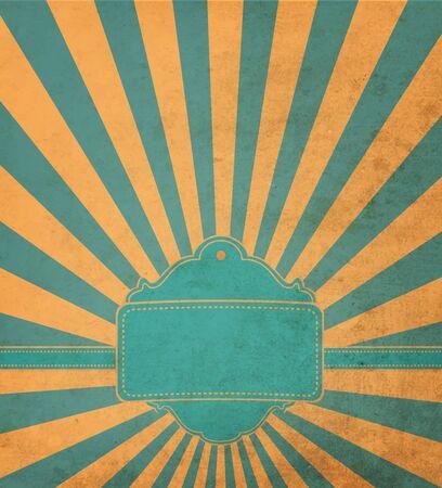lambent: Vintage Blue And Ogange Background