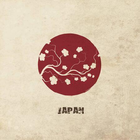 Grunge Flag Of Japan Banque d'images - 37560073