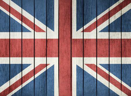 northern ireland: Wooden Grunge Flag Of United Kingdom Of Great Britain And Northern Ireland