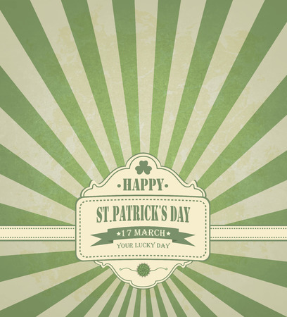 lambent: Vintage Saint Patricks Day Background  With Leaf And Title Inscription