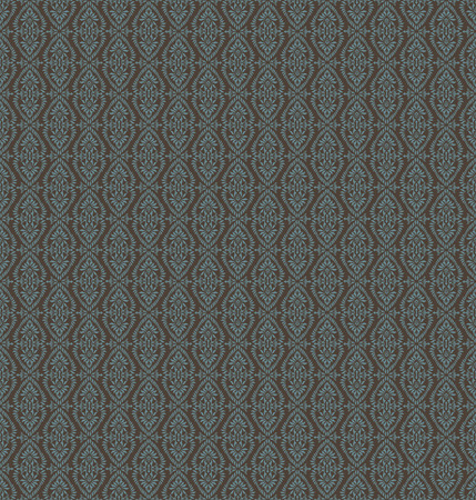 Vintage Seamless Blue Floral Pattern On A Brown Background Vector