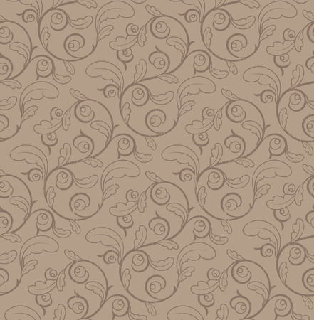 architectural styles: Vintage Seamless Floral Pattern With Clipping Mask