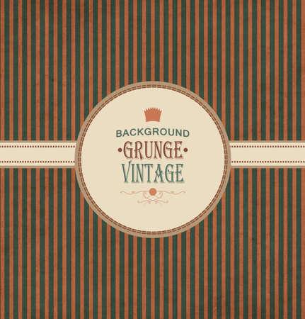 lambent: Vintage Frame With Grunge Striped Background And Title Inscription Illustration