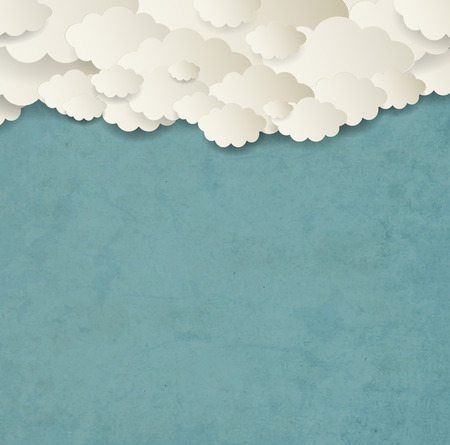 lambent: Vintage Background With Clouds Illustration
