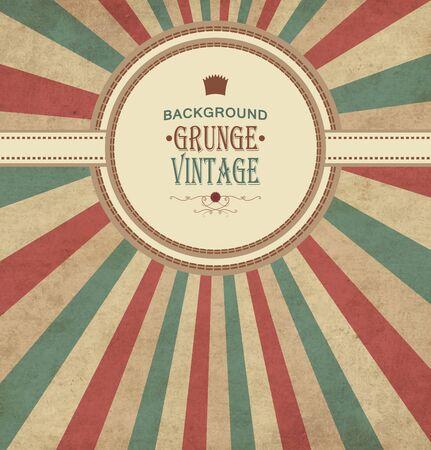 radiant: Vintage Frame With Grunge Radiant Background And Title Inscription