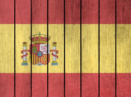 oak wood: Grunge Wooden Flag Of Spain