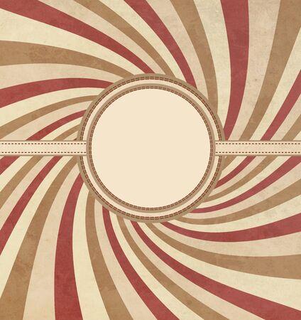 lambent: Vintage Frame With Grunge Radiant Background